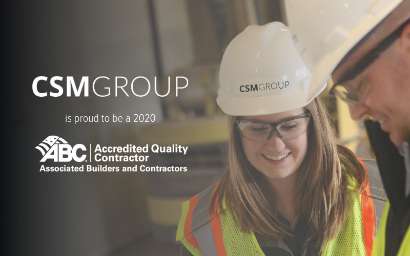 CSM Group named Accredited Quality Contractor by ABC